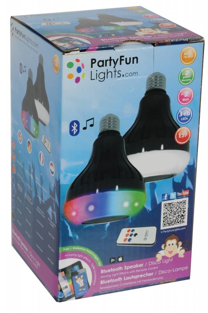 Disco Led Party lamp met Bluetooth Speaker (Incl. Afstandsbediening)