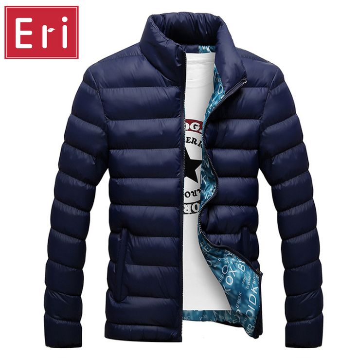 2017 Brand Jacket Men Warm Coat Black Outwear Chaquetas Plumas Hombre Winter Mens Coats Jackets Stand Collar Slim Clothes X323