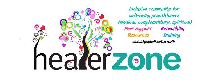 The latest version of the Healerzone logo - we've gone rainbow!