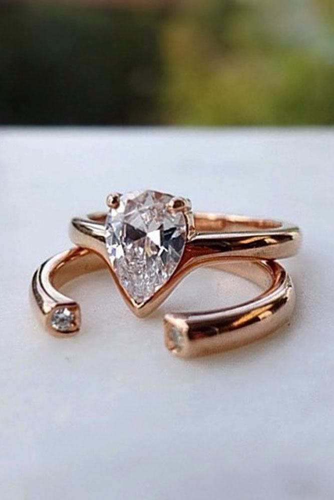 42 Most Popular And Trendy Engagement Rings For Women ❤️ engagement rings for women unique open wedding ring ❤️ See more: http://www.weddingforward.com/engagement-rings-for-women/ #weddingforward #wedding #bride #engagementrings