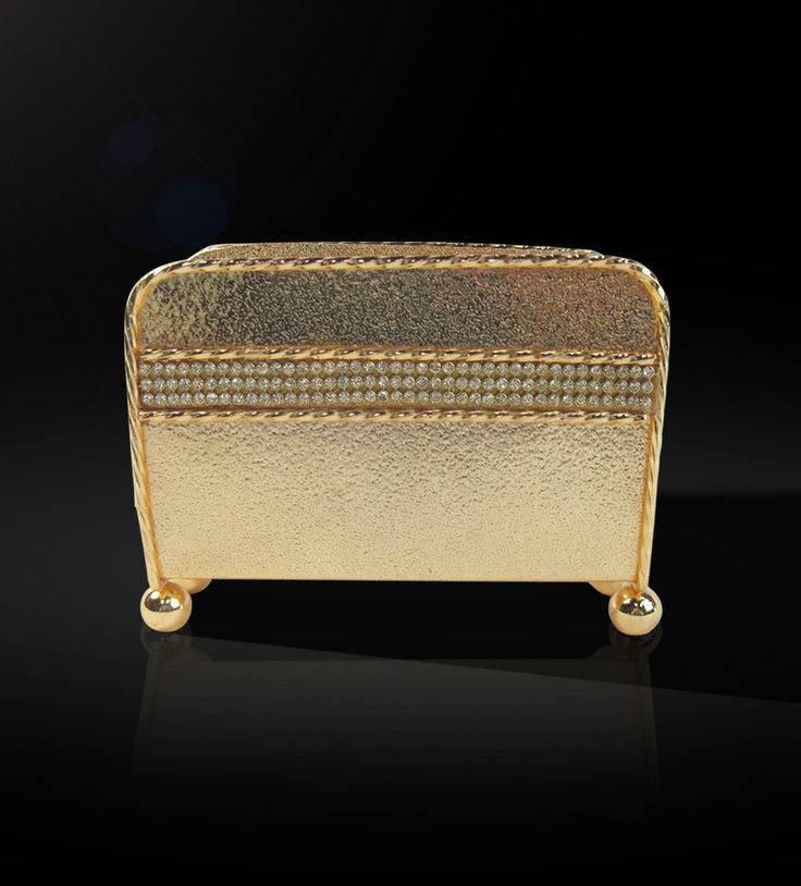 Napkin Holder With Swarvoski Line http://www.thedivineluxury.com/product/Napkin-Holder-With-Swarvoski-Line.html This elegantly designed napkin holder with contemporary design and glossy finish is a marvelous piece to add to your collection from the gold collection.