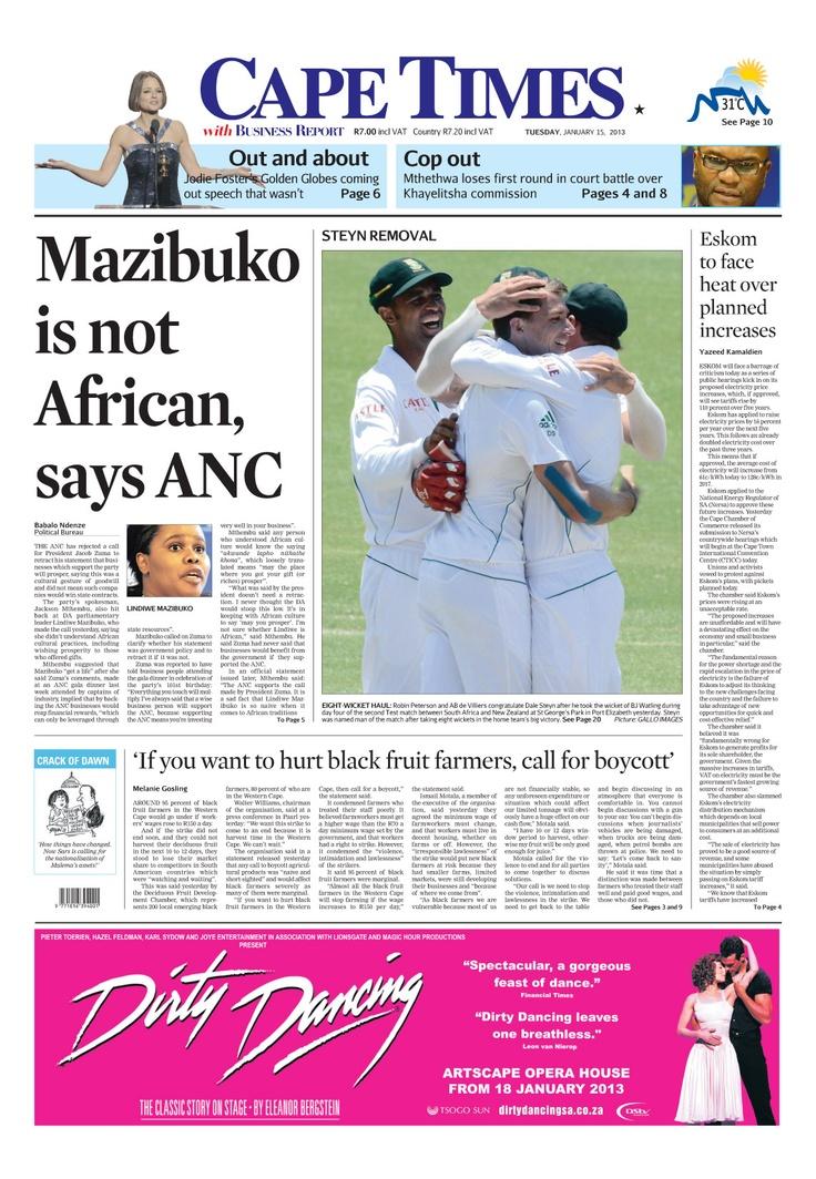 News making headlines: Mazibuko is not African, says ANC