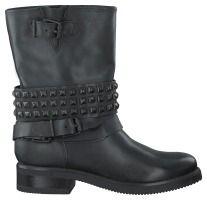 Zwarte PS Poelman Korte laarzen R14174