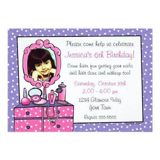 Best Dress Up Birthday Party Invitations Images On Pinterest - Invitation birthday party girl