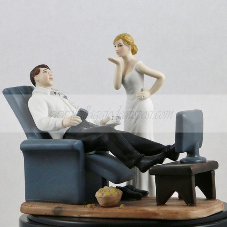 Divertente Cake Topper/ Funny Cake topper Disponibile/Available http://www.ilvillaggiodeglisposi.com/