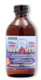 Inexpensive & for maternity baby brain health: 2750mg of DHA (docosahexanènoïque acid - Omega 3) and 250mg of EPA (eicosapentaenoic acid) per 5 ml (it'll last a long time). Neuromega also contains oil of thyme and a 100% natural flavor of raspberry and cranberry.