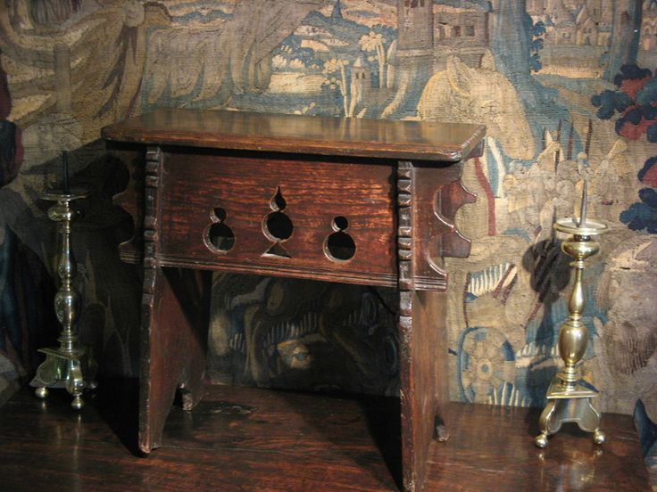 """MID 16TH CENTURY ELM BOARDED STOOL. ENGLISH. CIRCA 1550.    MORE DETAILS TO FOLLOW.  22"""" WIDE X 21.5"""" HIGH X 11.5"""" DEEP."""