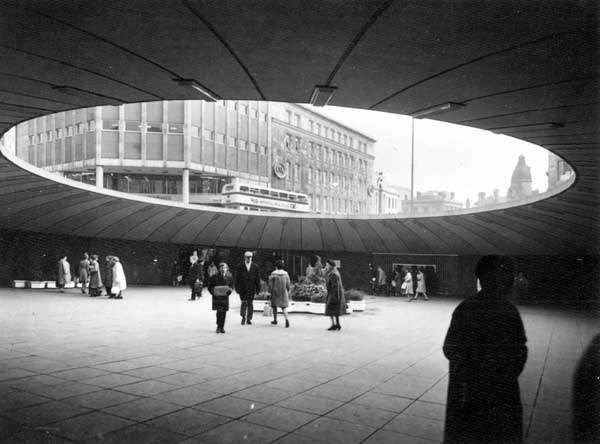 """'The Hole in the Road' became part of Sheffield folklore from its construction in 1967 to its demolition in 1994. Its 27 year history saw it as memorable facet of the city for a variety of reasons that merged together in a loose fashion. As a 'residual jungle', the inclusion of a large and solitary fish tank was part of the allure of the underground structure."""