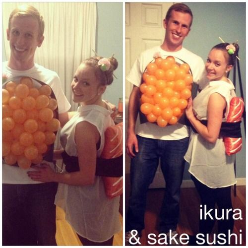 Our Halloween sushi costumes!