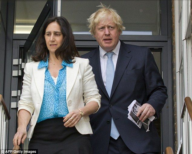 Close: Mr Johnson's wife – human rights lawyer Marina Wheeler – hinted that her Tory husband would join the Brexit campaign earlier this month