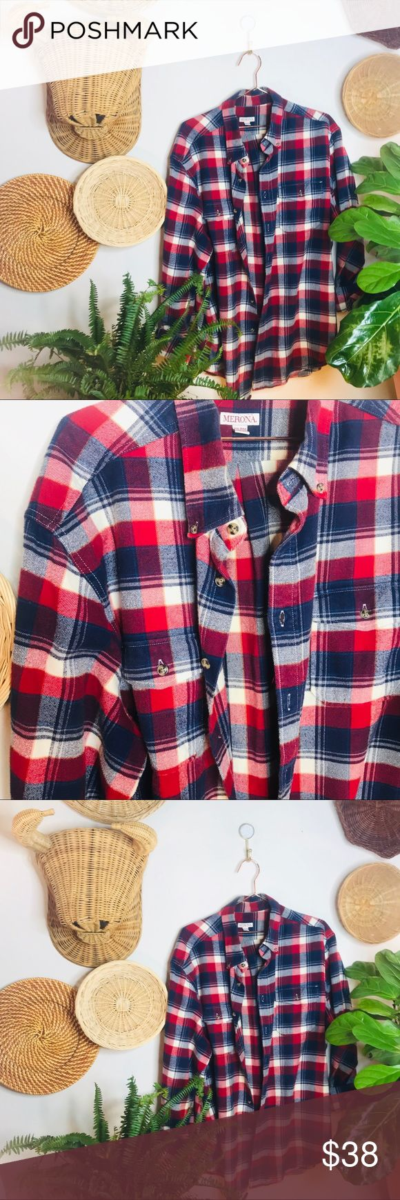 vtg vsco 90s boyfriend flannel button up popover vtg vsco 90s boyfriend flannel button up popover  • Tags say XXL but would fit a XL or large nicely...