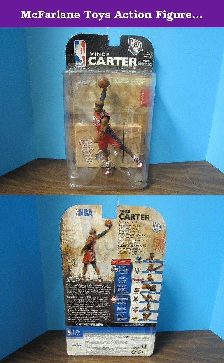 McFarlane Toys Action Figure - NBA Sports Picks Series 15 - VINCE CARTER 3. Highly Detailed Mcfarlane Figurine.