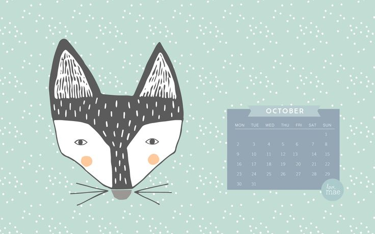 It's our Love Mae FREE Desktop calendar for October 2017!! #free #calendar #creative #download