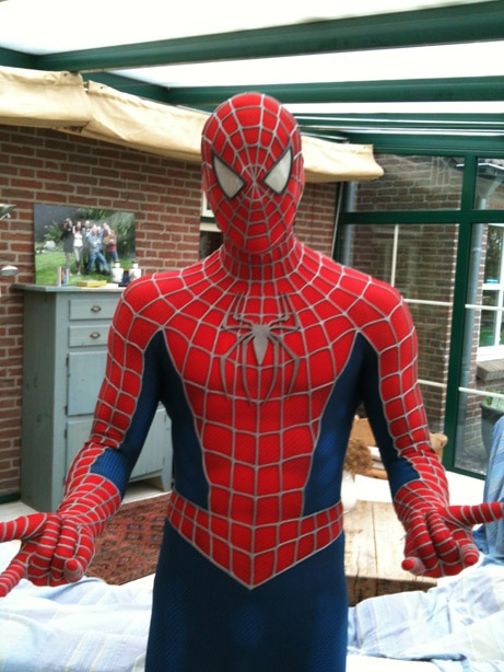 A complete replica SpiderMan suit can be yours for the