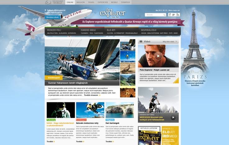 Explorer Online sponsoration design
