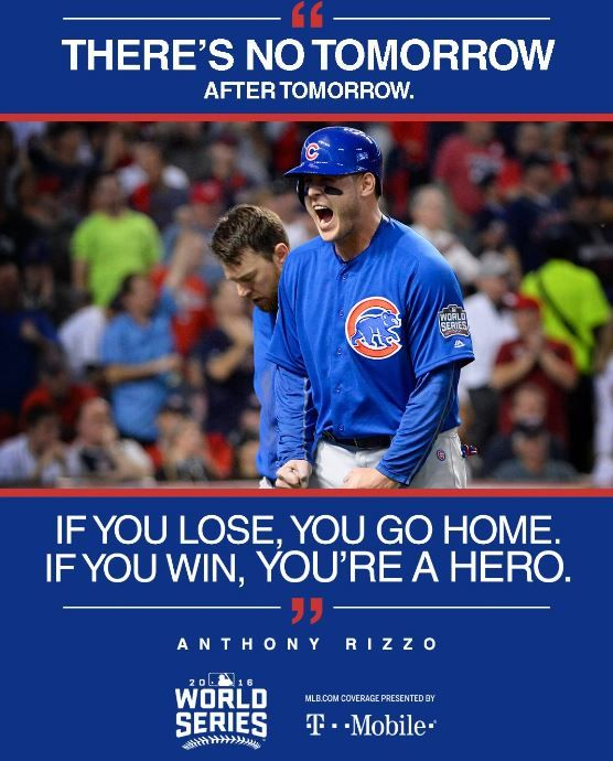 There is no tomorrow. #WorldSeries