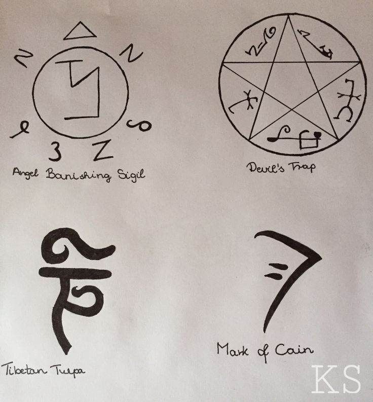 Supernatural Demon Protection Symbol Tattoo Image Collections