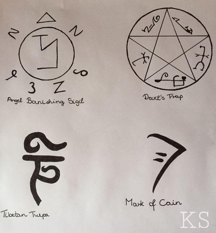 Картинки сверхъестественное символы
