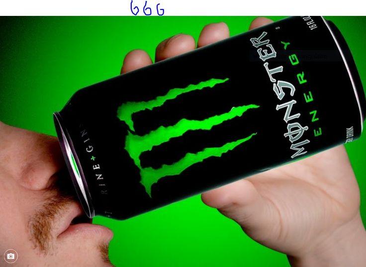 """""""MONSTER ENERGY DRINK"""" PORTE DEJA LE NOMBRE D'LA BETE 666"""