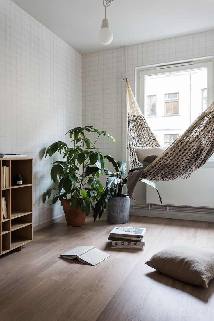Hammock reading corner. We need this. 100%.