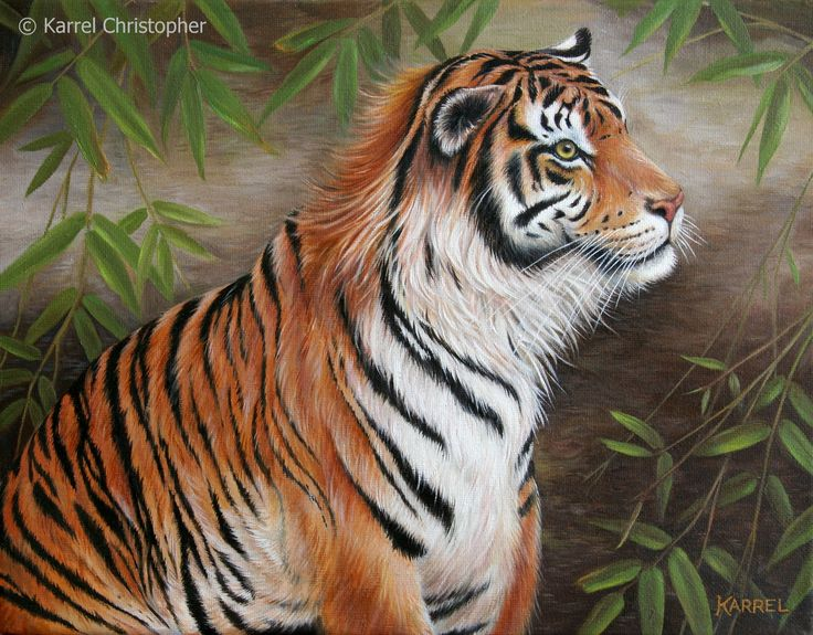 Bamboo Oil Painting