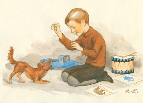 RUDOLF KOIVU - Poika ja koiranpentu