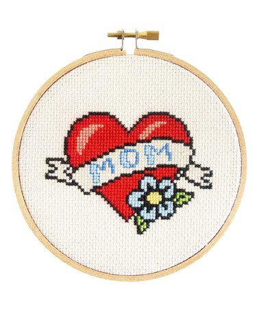 Look at this #zulilyfind! Mom Tattoo Cross Stitch Kit #zulilyfinds