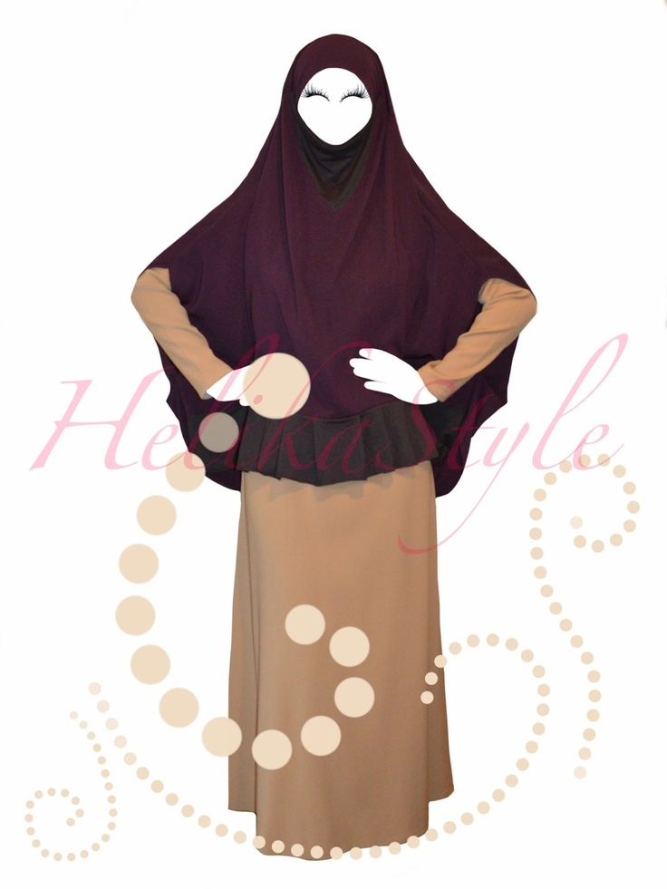 HelikaStyle Khimar-Kaftan photo collection. French jilbab without sleeves. :: Sewing classes and tutorials - HelikaStyle  Designed by HelikaStyle. Combination of jersey and Saudi Crepe. Very modest and very nice.