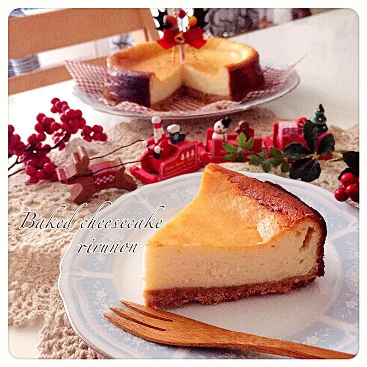 りるのん's dish photo 1000投稿記念 SD 年記念 混ぜて焼くだけのベイクドチーズケーキ   http://snapdish.co #SnapDish #レシピ #簡単料理 #おやつ #ケーキ #パーティー #クリスマス
