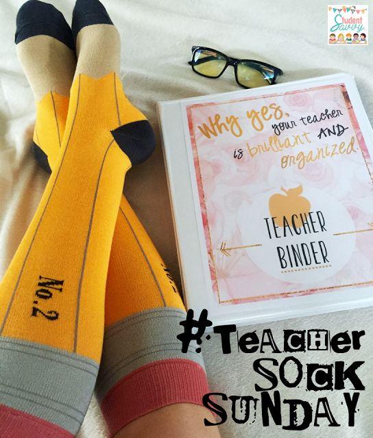 Teacher Sock Sunday: Featuring the Fabulous Floral Teacher Binder! http://studentsavvyontpt.blogspot.com/2016/04/teacher-sock-sunday-featuring-fabulous.html