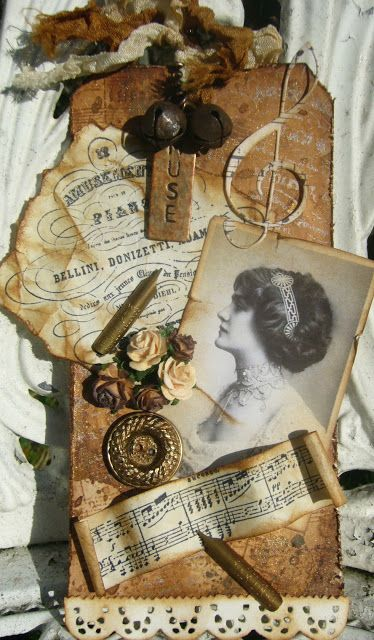 Awesome collage style heritage photo tag! ~ These make great embellishments for your layouts!