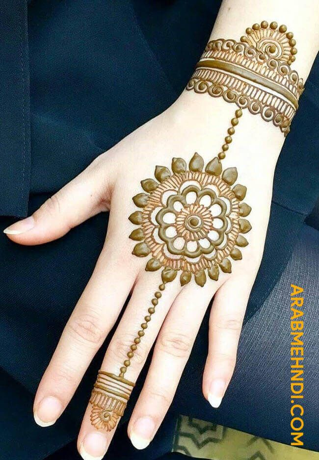 easy back hand mehndi design 2020
