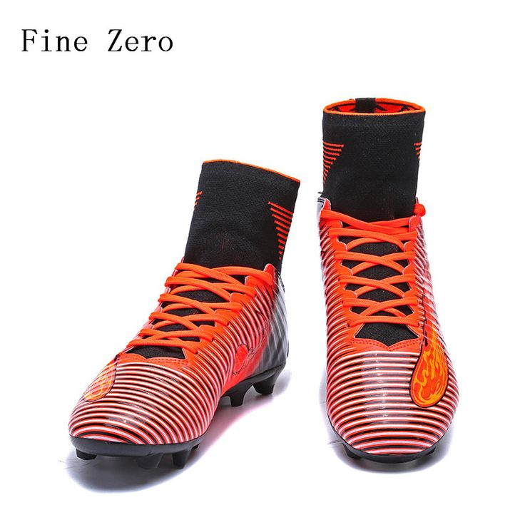 2017 New Football Boots Men Soccer Shoes Boys Kids Soccer Cleats FG High Ankle Football Shoes Big Size Soccer Boots 36-44 #Affiliate