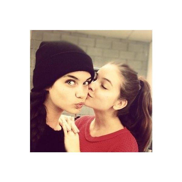 barbara palvin and sara sampaio We Heart It ❤ liked on Polyvore