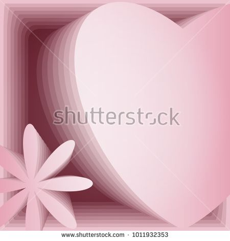 heart and flower are made in technique of volumetric application