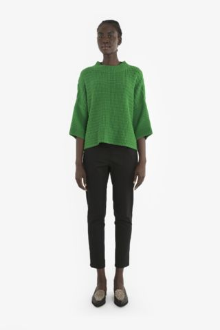 NELLA SWEATER from Obus Spring17A high quality chunky cotton knit in an oversized fit with cropped sleeves