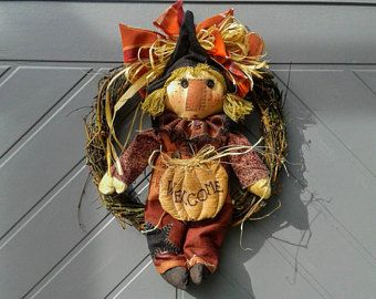 Primitiva decorazione - primitiva caduta Decor - Door Hanger - porta Decor - Fall Wreath - primitivo corona - primitivo Halloween Decor - autunno