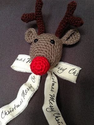 Rendier haken, kerstmis haken, leuk voor in de boom! Met patroon :)