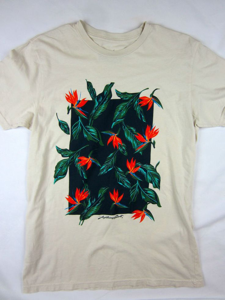 Lightning Bolt Surf brand floral men's T-Shirt size XS Extra Small #youngreckless #GraphicTee