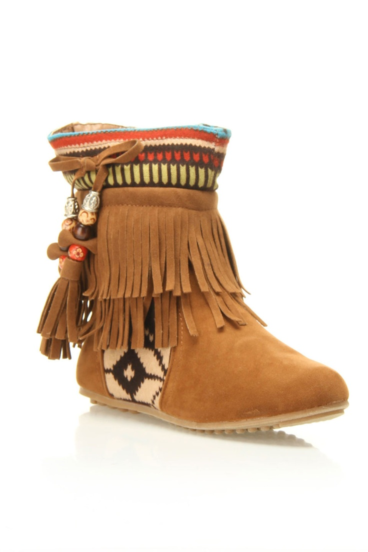 Westwood Moccasin Booties- I wanted my daughter to wear something like this when she dressed for Pocahontas for Halloween.