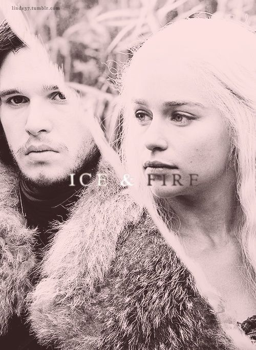 Jon Snow and Daenerys Targaryen ~ Game of Thrones Fan Art