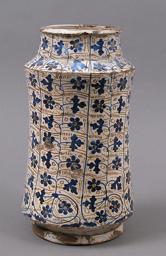 1440 pharmacy jar  #ceramics #pottery