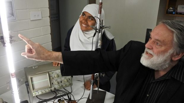 Melrose High School year 9 student Shamima Islam paired up with physicist John Rayner to create a plasma-powered antenna.
