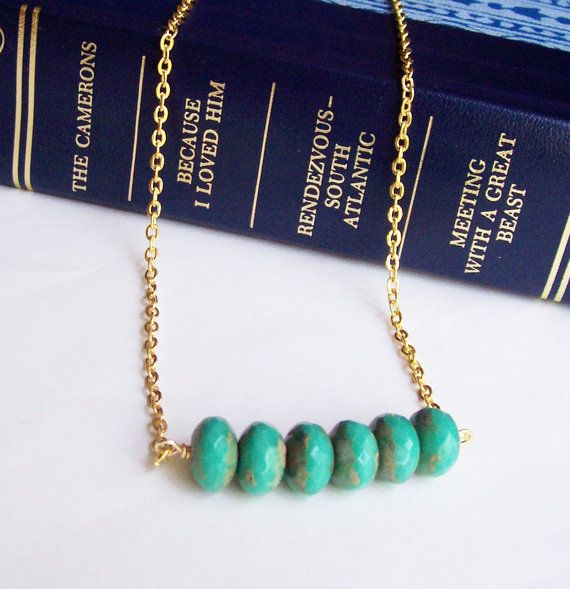 Necklace. Mystique. Turquoise Picasso Bar. Jewellery by dspdavey on Etsy