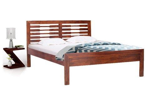 Willy Queen Size Bed (Teak Finish)