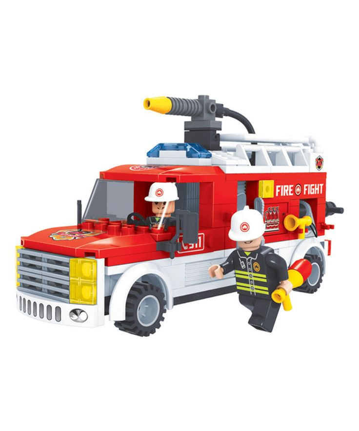 Loving this Ox Blocks 207-Ct. Rescue Squad Fire Brigade Building Block Set on #zulily! #zulilyfinds