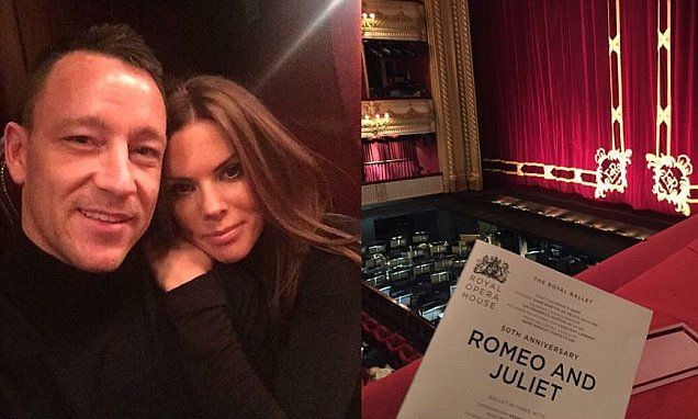 Chelsea captain JOHN TERRY takes wife TONI to watch Romeo and Juliet at Royal Opera House as he takes break from awful season...