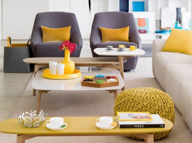 Salon gris jaune moutarde