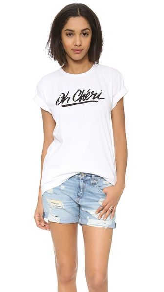 Sincerely Jules Oh Cheri Tee #shopbop