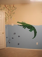 Swamp themed baby room mural!    http://leightherese.blogspot.com/2011/04/finished-mural-in-babys-room.html#
